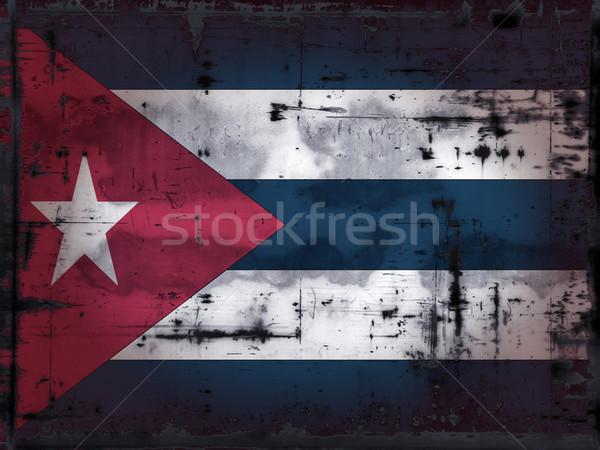 Grunge Cuba vlag land antieke grond Stockfoto © drizzd