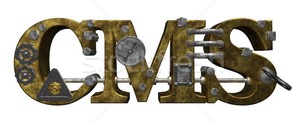 Cms litery steampunk stylu 3d ilustracji komputera Zdjęcia stock © drizzd