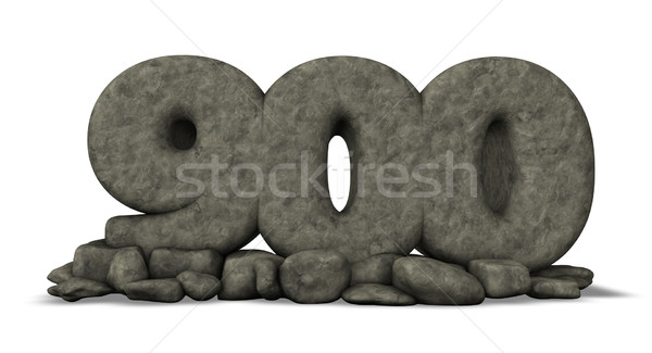 stone number nine hundred on white background - 3d rendering Stock photo © drizzd