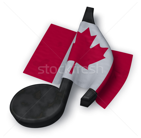 Musique note drapeau canadien 3D signe Photo stock © drizzd