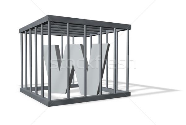 big W in a cage Stock photo © drizzd