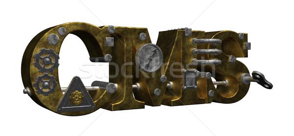 Cms cartas steampunk estilo ilustração 3d computador Foto stock © drizzd