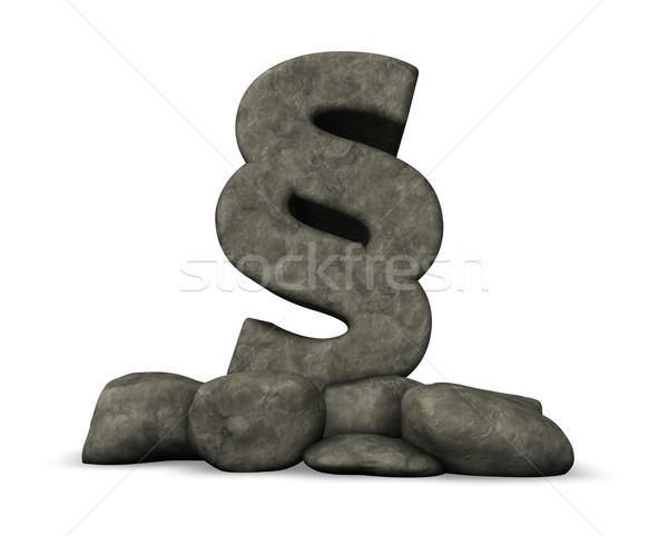 Absatz Stein Symbol 3D-Darstellung Gerechtigkeit Rechtsanwalt Stock foto © drizzd