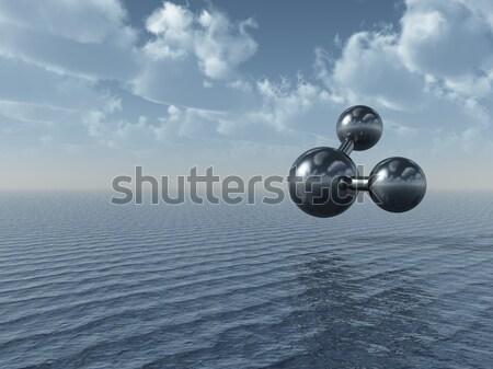 Modello Ocean illustrazione 3d cielo acqua mare Foto d'archivio © drizzd