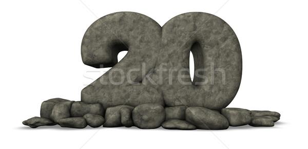 Piedra número veinte 3D rock Foto stock © drizzd