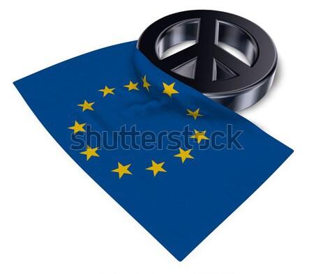Feminino símbolo bandeira europeu união 3D Foto stock © drizzd