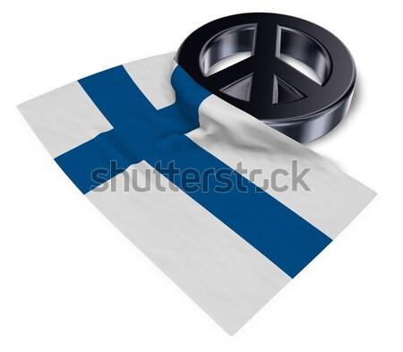 Symbool vrouwelijk vlag 3D kruis Stockfoto © drizzd