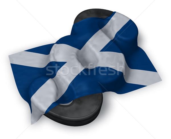 Ustęp symbol banderą Szkocji 3D Zdjęcia stock © drizzd