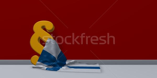 Bekezdés szimbólum zászló 3D renderelt kép Stock fotó © drizzd