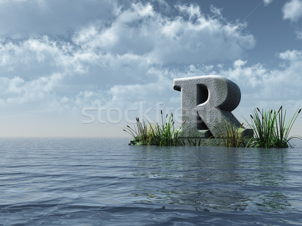 letter r monument Stock photo © drizzd