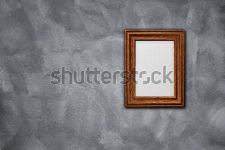 Kép képkeret keret koszos fal 3d illusztráció Stock fotó © drizzd