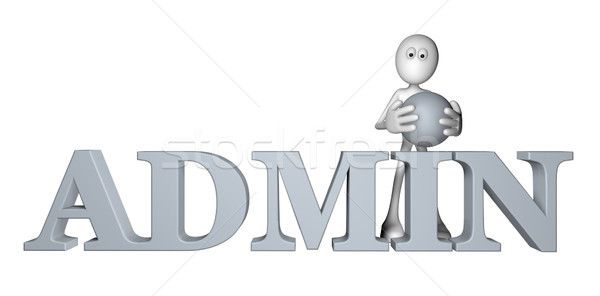 Admin witte vent woord 3d illustration internet Stockfoto © drizzd