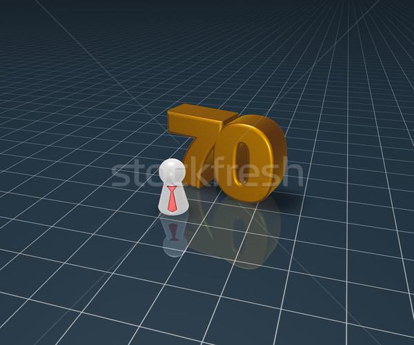 числа играть Рисунок галстук 3d иллюстрации летию Сток-фото © drizzd
