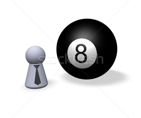 черный восемь бильярдных мяча играть Рисунок Сток-фото © drizzd