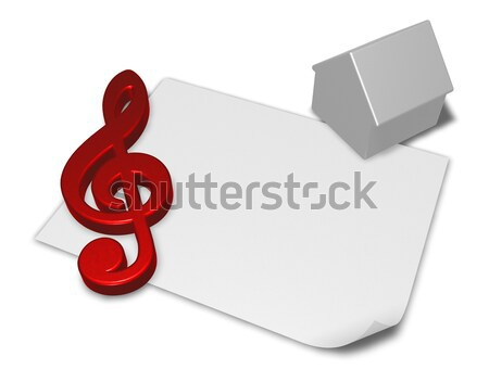 question mark and blank paper sheet - 3d rendering Stock photo © drizzd