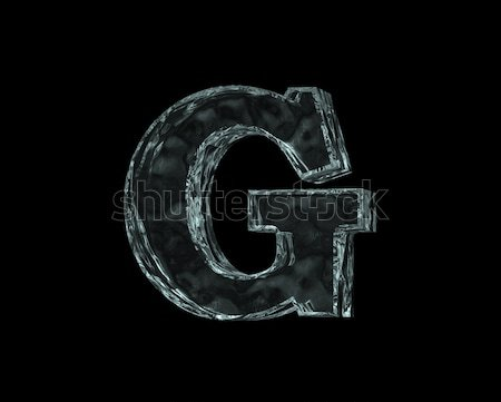 frozen letter G Stock photo © drizzd