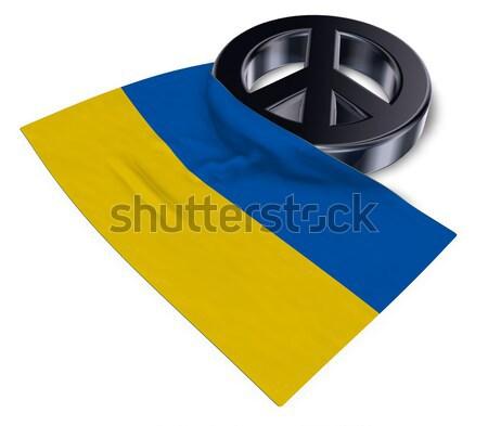 Szimbólum nőies zászló 3D renderelt kép szeretet Stock fotó © drizzd