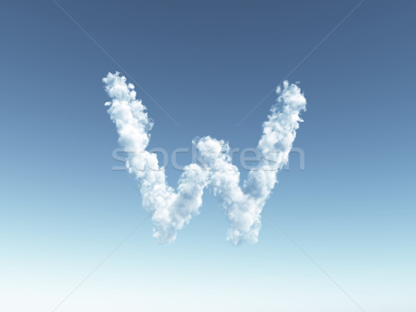 cloudy letter W Stock photo © drizzd