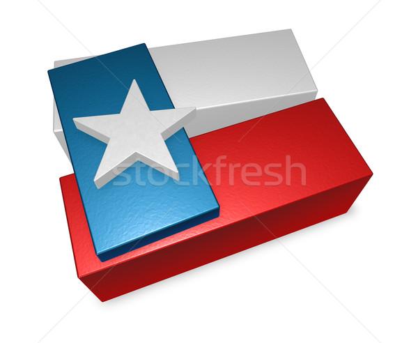 Texas vlag stukken 3d illustration star land Stockfoto © drizzd