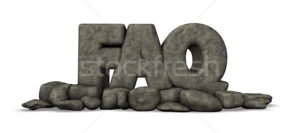 よくある質問 石 タグ 白 3次元の図 インターネット ストックフォト © drizzd