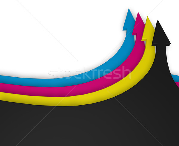 cmyk Stock photo © drizzd