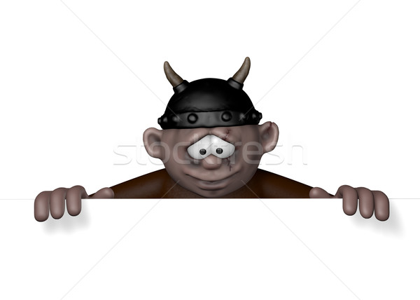 viking character with helmet - 3d rendering Stock photo © drizzd