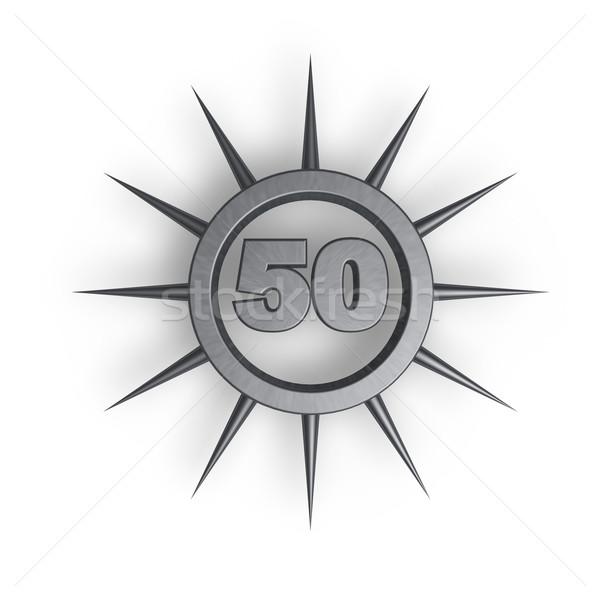 Número cincuenta anillo dentro 3d cumpleanos Foto stock © drizzd
