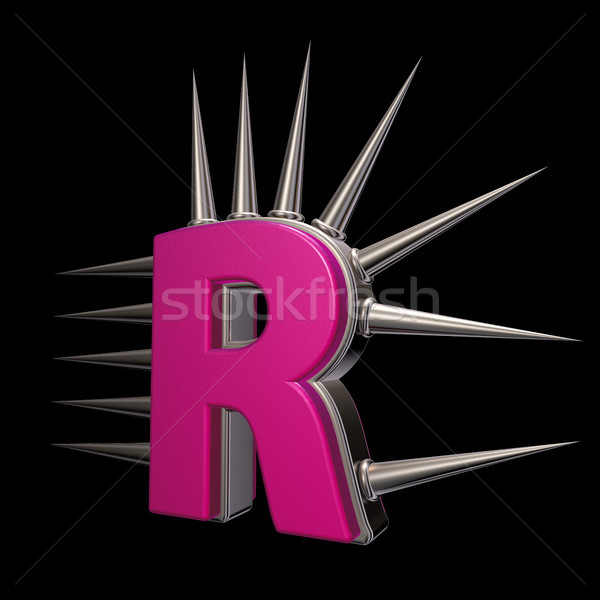 Stock photo: prickles letter r
