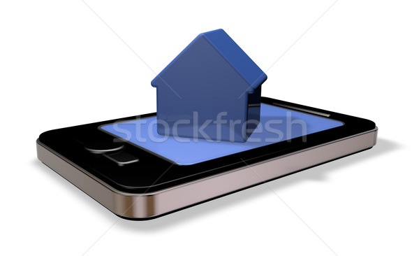Immobilier smartphone simple maison modèle écran Photo stock © drizzd