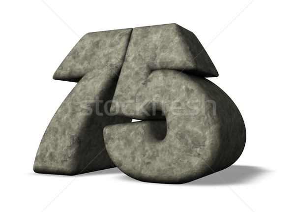 stone number seventy five Stock photo © drizzd