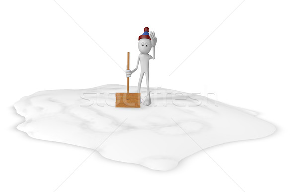 snow shovel Stock photo © drizzd