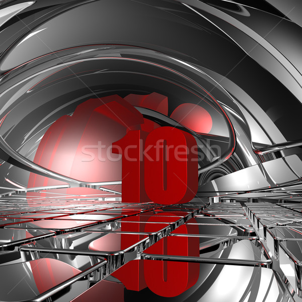 red number ten - 3d illustration Stock photo © drizzd