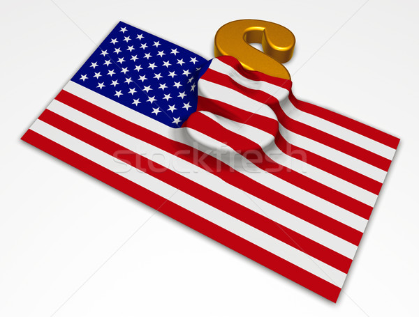USA Flagge Absatz Symbol 3D-Darstellung Gericht Stock foto © drizzd