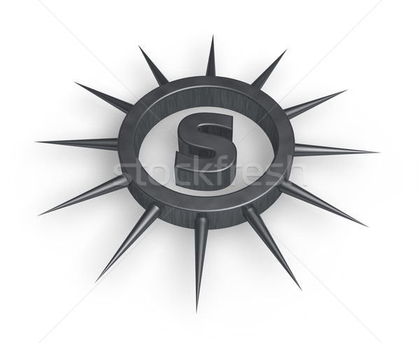 spiky letter s Stock photo © drizzd