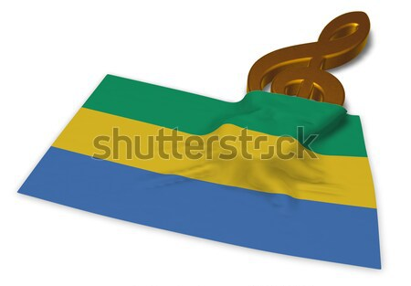 clef symbol and rainbow flag - 3d rendering Stock photo © drizzd