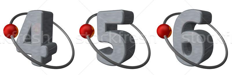 軌道 赤 ボール フライ 周りに 番号 ストックフォト © drizzd