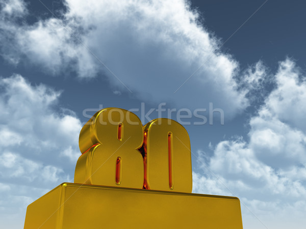 eighty Stock photo © drizzd
