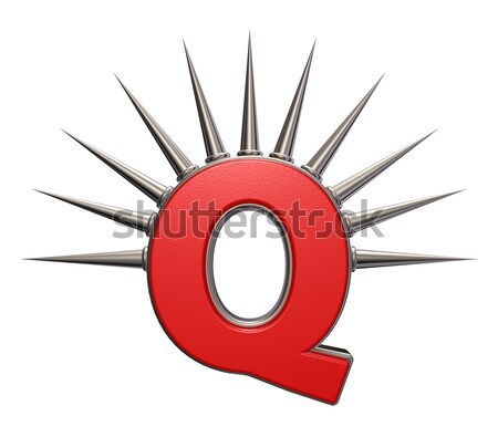 Male symbol with prickles on white background - 3d illustration Stock photo © drizzd
