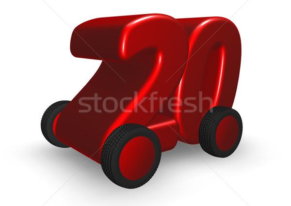 Vinte rodas número ilustração 3d carro caminhão Foto stock © drizzd