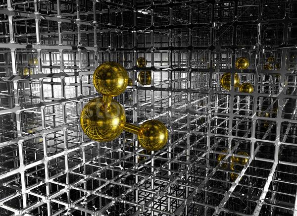 Futuristico spazio 3D modello rete Foto d'archivio © drizzd