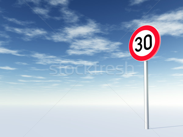 speed limit thirty Stock photo © drizzd