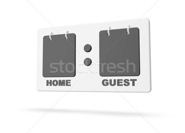 Puan sayı tahtası beyaz 3d illustration stadyum tahta Stok fotoğraf © drizzd