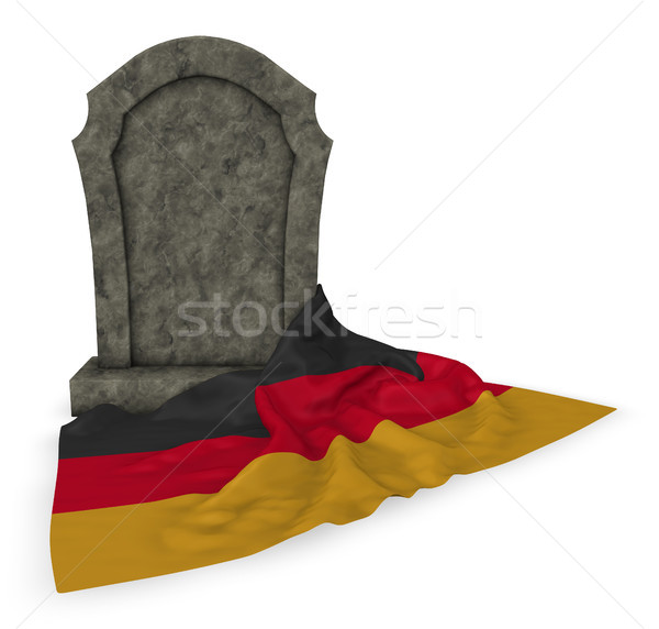 gravestone and flag of germany - 3d rendering Stock photo © drizzd