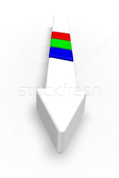 arrow with rgb stripes Stock photo © drizzd