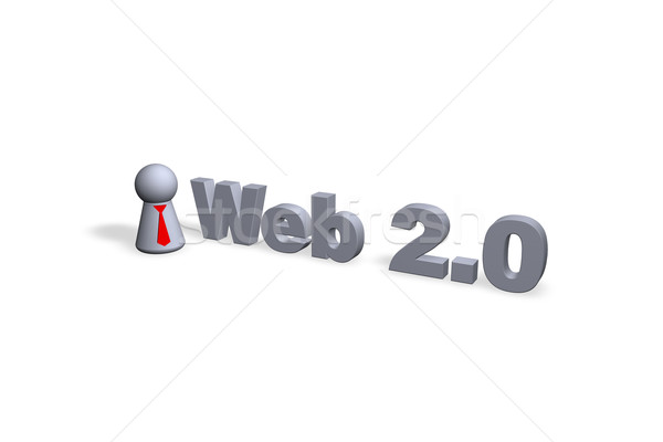 Web 20 texte 3D jouer chiffre Photo stock © drizzd