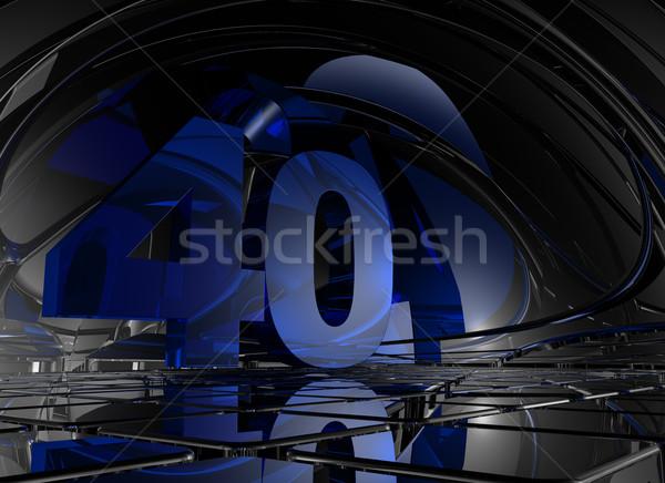 Nombre quarante résumé miroir espace 3d illustration Photo stock © drizzd