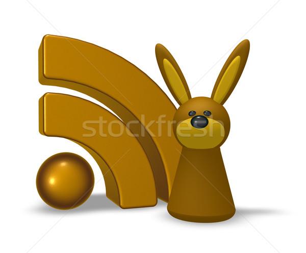 кролик rss символ 3d иллюстрации компьютер интернет Сток-фото © drizzd