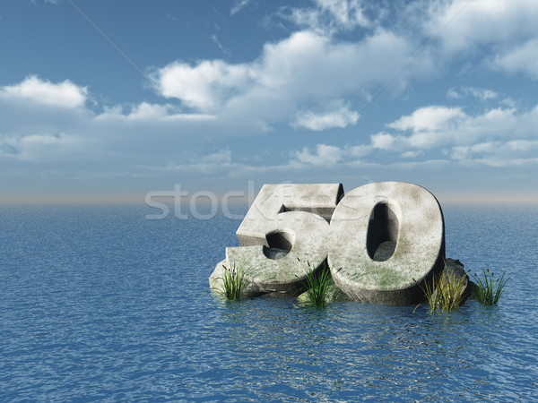 fifty monument Stock photo © drizzd