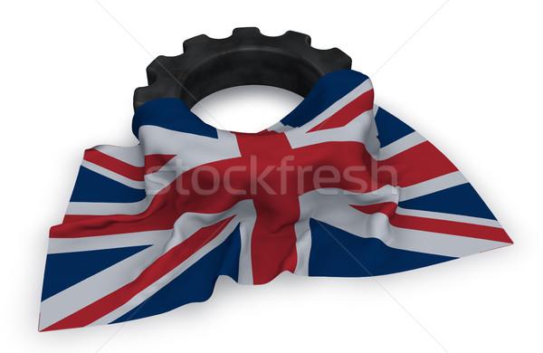 Viselet kerék zászló királyság Nagy-Britannia északi Stock fotó © drizzd