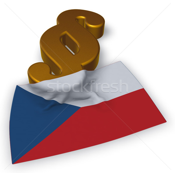 paragraph symbol and flag of the Czech Republic - 3d rendering Stock photo © drizzd